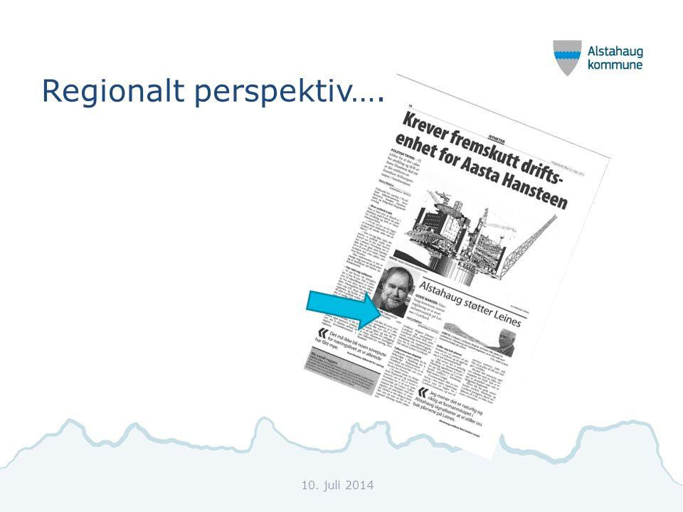 Regionalt perspektiv…. 10. juli 2014
