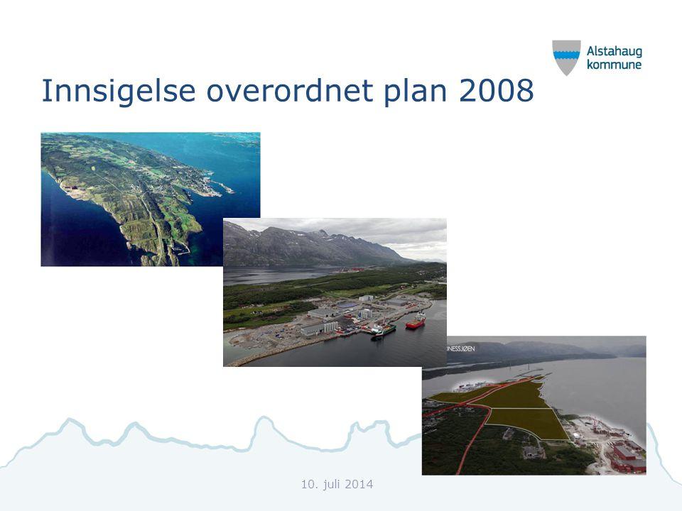 Innsigelse overordnet plan 2008 10. juli 2014
