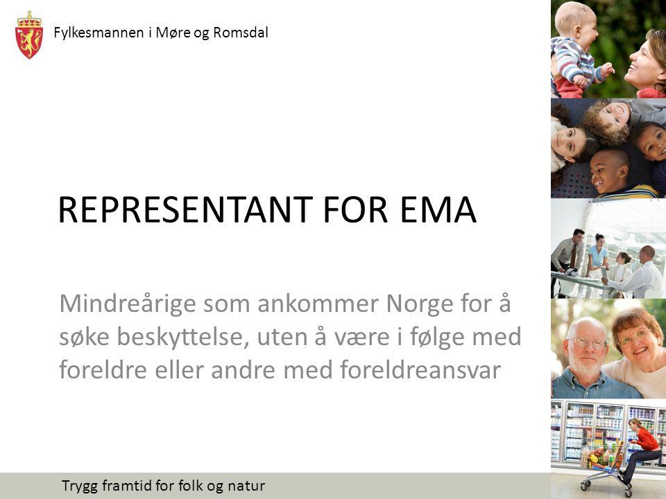 Fylkesmannen i Møre og Romsdal Trygg framtid for folk og natur REPRESENTANT FOR EMA Mindreårige som ankommer Norge for å søke beskyttelse, uten å være i følge med foreldre eller andre med foreldreansvar