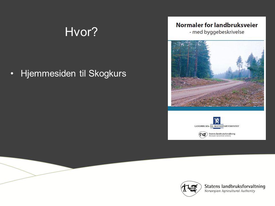 Hjemmesiden til Skogkurs Hvor?