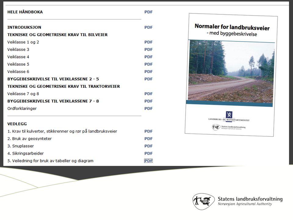…jo, at kompetanse hos planleggerne blir viktig for å bestemme når minimumskravene ikke holder mål … økte krav til massene (knust masse) vurdering av bedre bærelag og bruk av geosynteter dimensjonering av grøfter / stikkrenner / kulverter behov for grove slitelag og sprengtfjell-veier