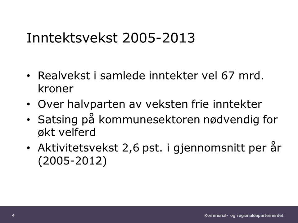 Kommunal- og regionaldepartementet Norsk mal: Tekst uten kulepunkter Kraftig sysselsettingsvekst 5
