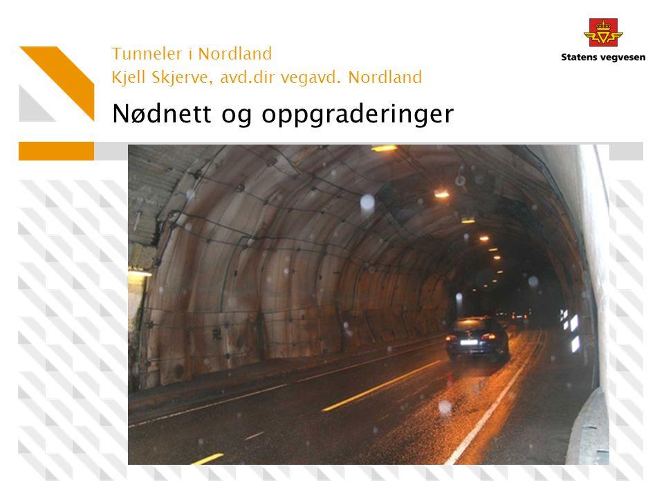 Nødnett og oppgraderinger Tunneler i Nordland Kjell Skjerve, avd.dir vegavd. Nordland