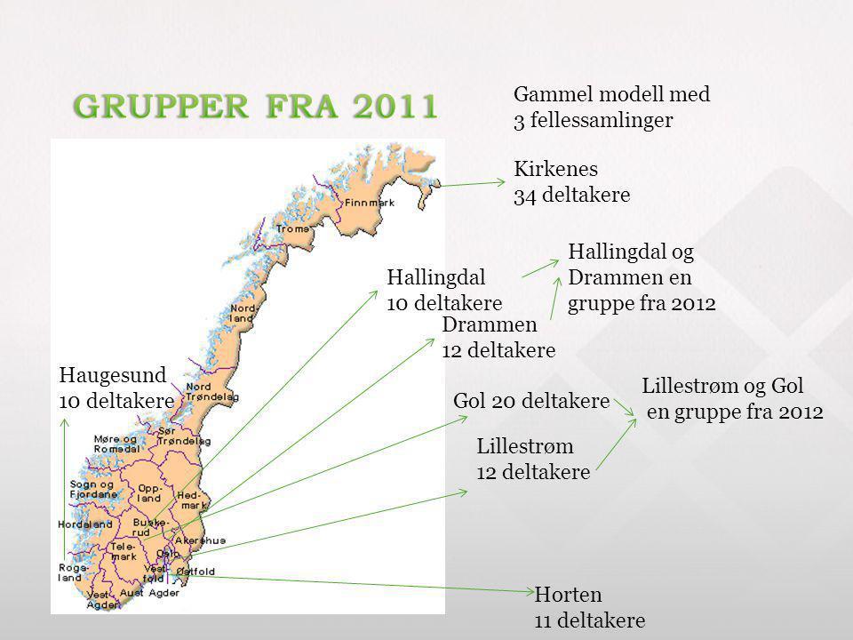 Hallingdal 10 deltakere Kirkenes 34 deltakere Horten 11 deltakere Haugesund 10 deltakere Gol 20 deltakere Drammen 12 deltakere Lillestrøm 12 deltakere