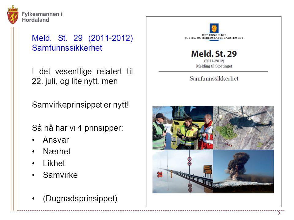 Meld.St. 29 (2011-2012) Samfunnssikkerhet I det vesentlige relatert til 22.