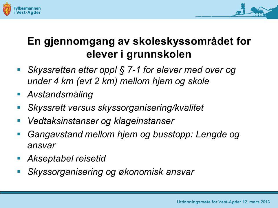Skyssretten etter oppl § 7-1 «Elevar i 2.-10.