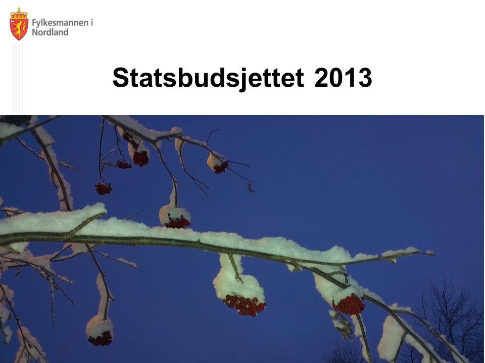 Statsbudsjettet 2013