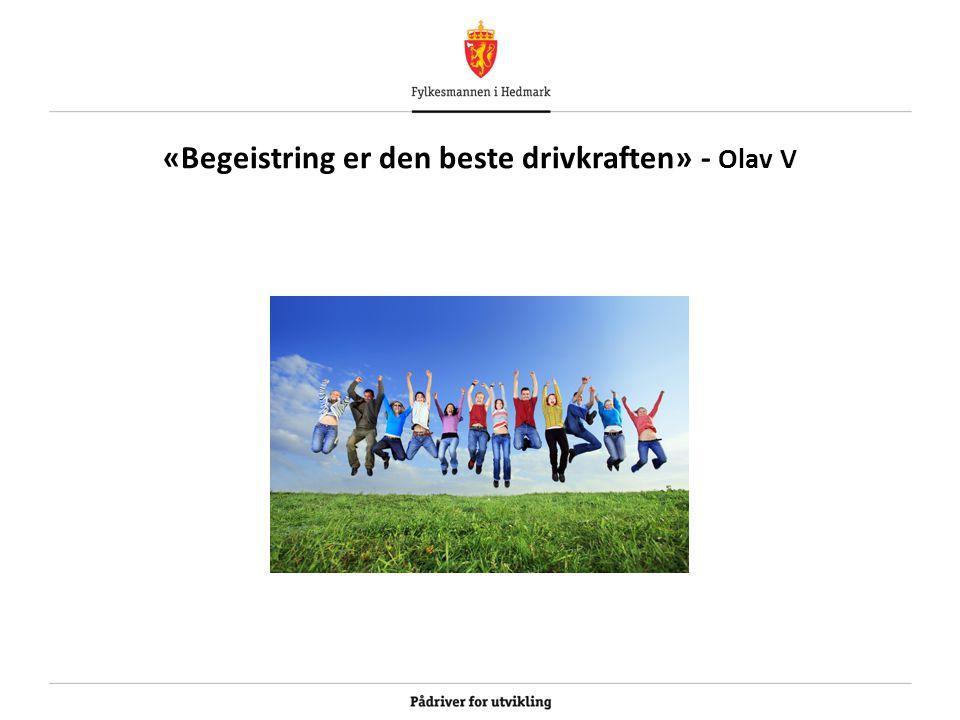 «Begeistring er den beste drivkraften» - Olav V