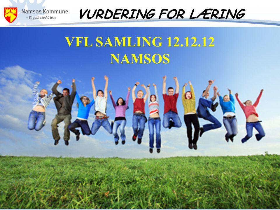VURDERING FOR LÆRING VFL SAMLING 12.12.12 NAMSOS