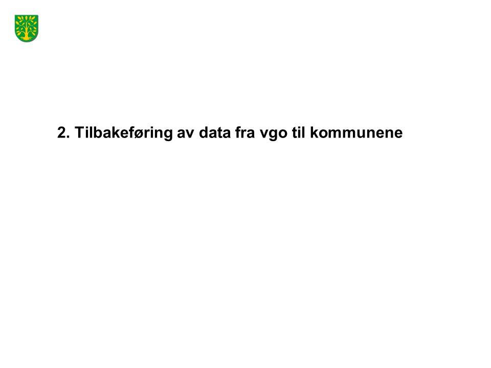 2. Tilbakeføring av data fra vgo til kommunene