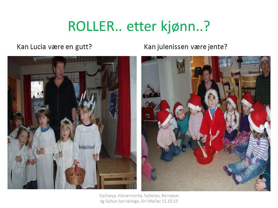 ROLLER..etter kjønn... Kan Lucia være en gutt?Kan julenissen være jente.