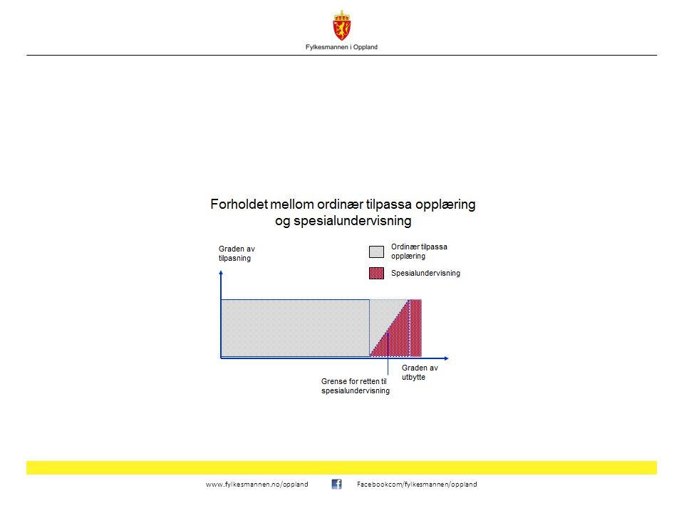 www.fylkesmannen.no/opplandFacebookcom/fylkesmannen/oppland Plikt til å vurdere utbytte av opplæringen før vedtak om spesialundervisning Spesialundervisning.