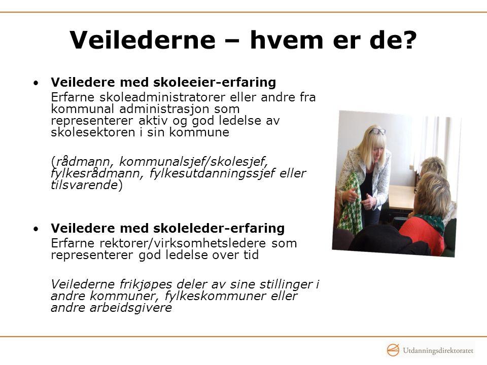 Skoleledere og skoleeieres vurdering av veiledningen FORSKNINGSBASERT EVALUERING AV ORDNINGEN MED VEILEDERKORPS DELRAPPORT 25.april 2013 – Rambøll/ILS