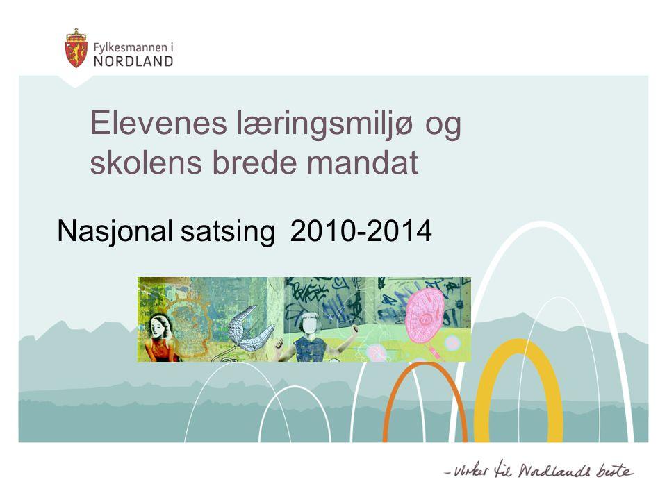 Elevenes læringsmiljø og skolens brede mandat Nasjonal satsing 2010-2014