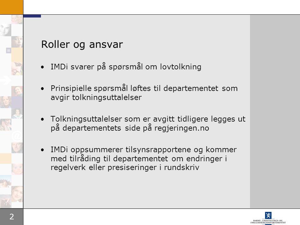 3 Revisjon av rundskrivet til introduksjonsloven Hyppigere revisjoner, planen er to ganger per år Vi går over til et elektronisk dokument Innspill om feil eller behov for endringer spilles inn til IMDi