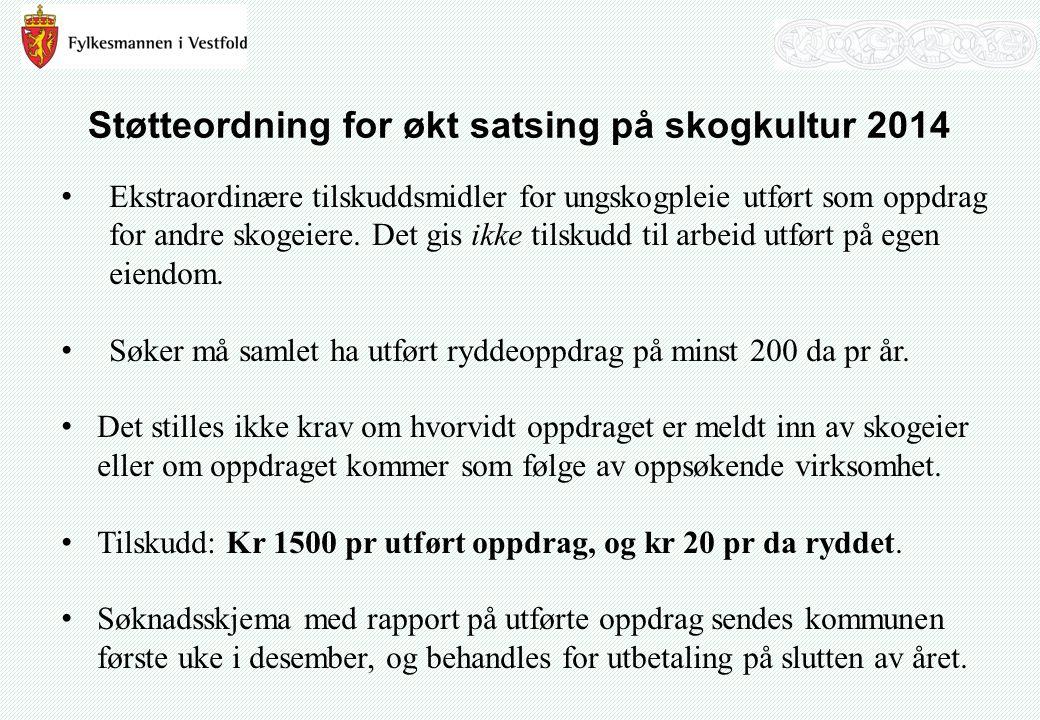 Tildeling av midler til kommunene 2014 KommuneNMSK Horten70 000 Holmestrand130 000 Tønsberg80 000 Sandefjord120 000 Larvik570 000 Svelvik20 000 Sande160 000 Hof380 000 Re380 000 Andebu380 000 Stokke150 000 Nøtterøy40 000 Tjøme20 000 Lardal400 000 Ikke fordelt / Mis erstatninger400 000 Sum3 300 000