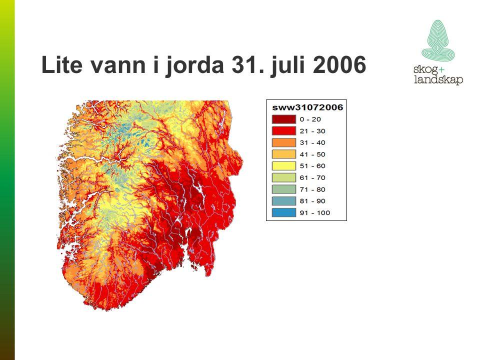 Lite vann i jorda 31. juli 2006