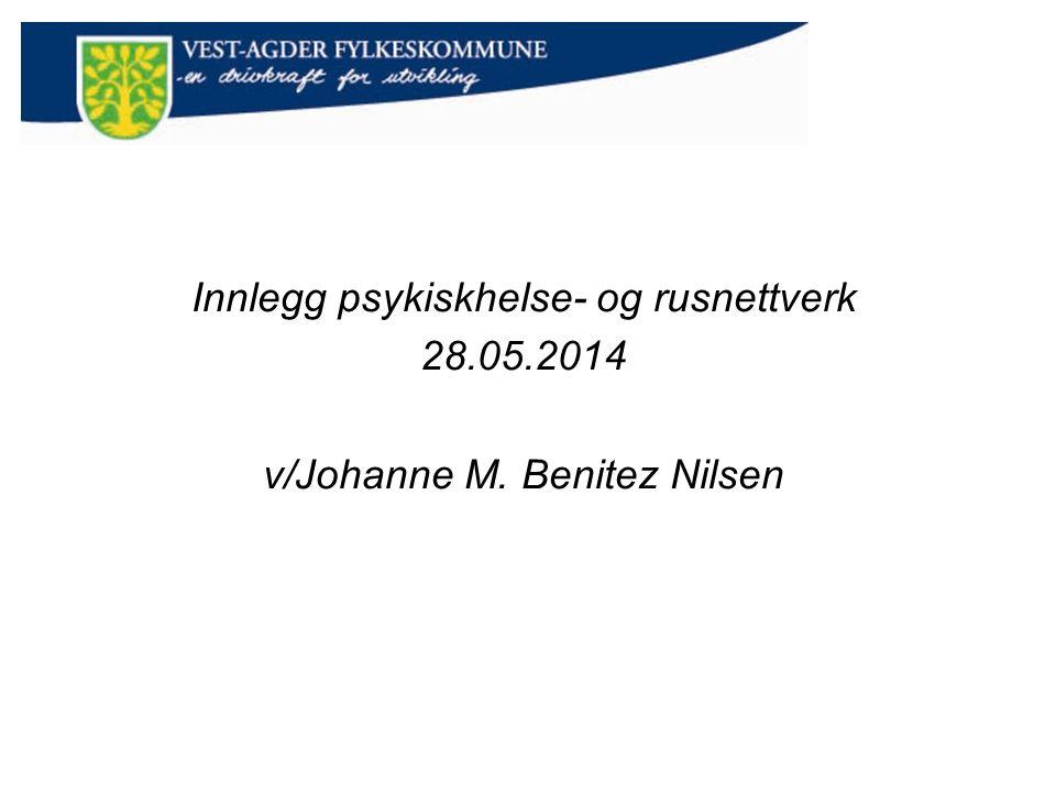 Innlegg psykiskhelse- og rusnettverk 28.05.2014 v/Johanne M. Benitez Nilsen