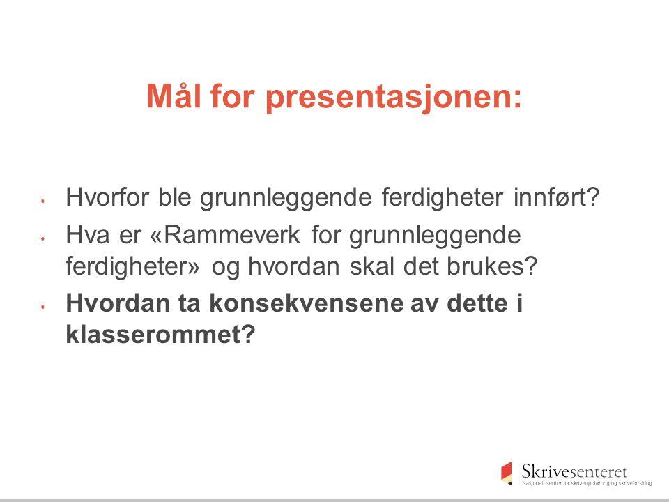 Er grunnleggende ferdigheter et norsk fenomen.