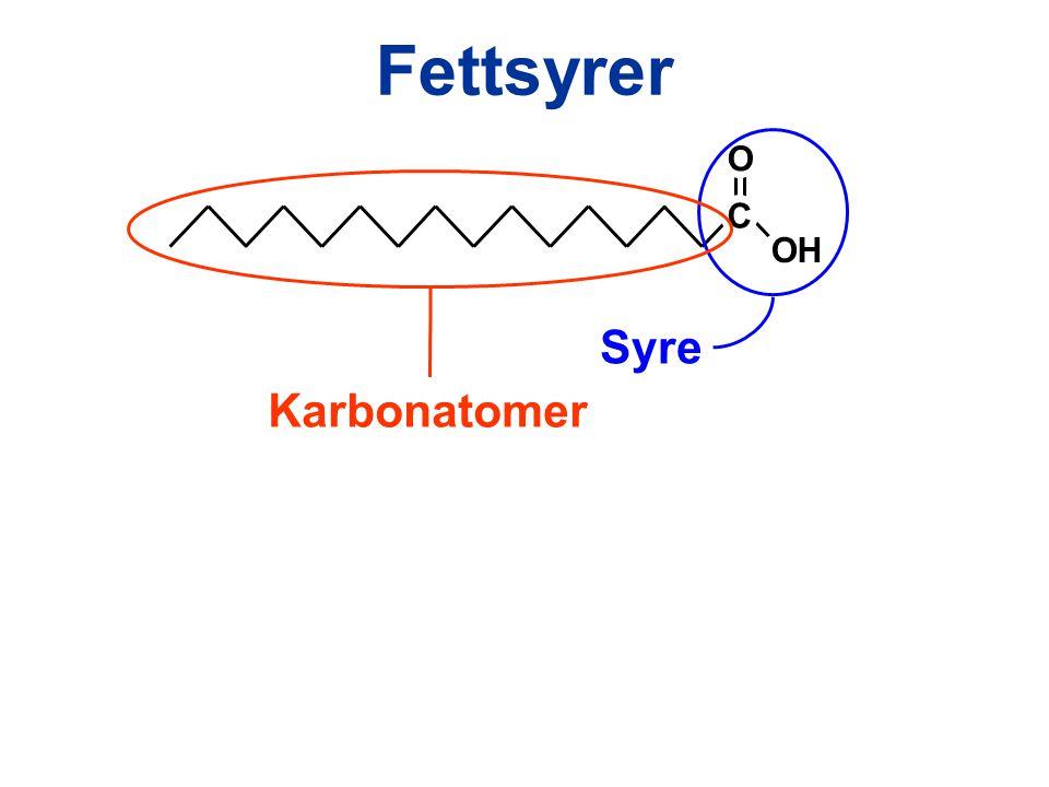 Fettsyrer C OH O Syre Karbonatomer