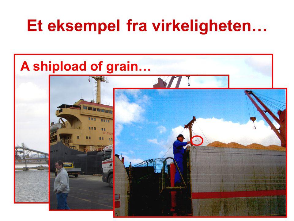 A shipload of grain… Et eksempel fra virkeligheten…