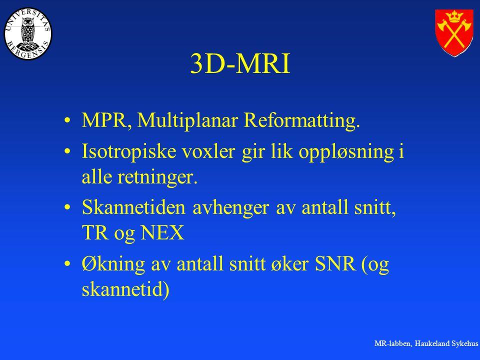 MR-labben, Haukeland Sykehus 3D-MRI MPR, Multiplanar Reformatting.