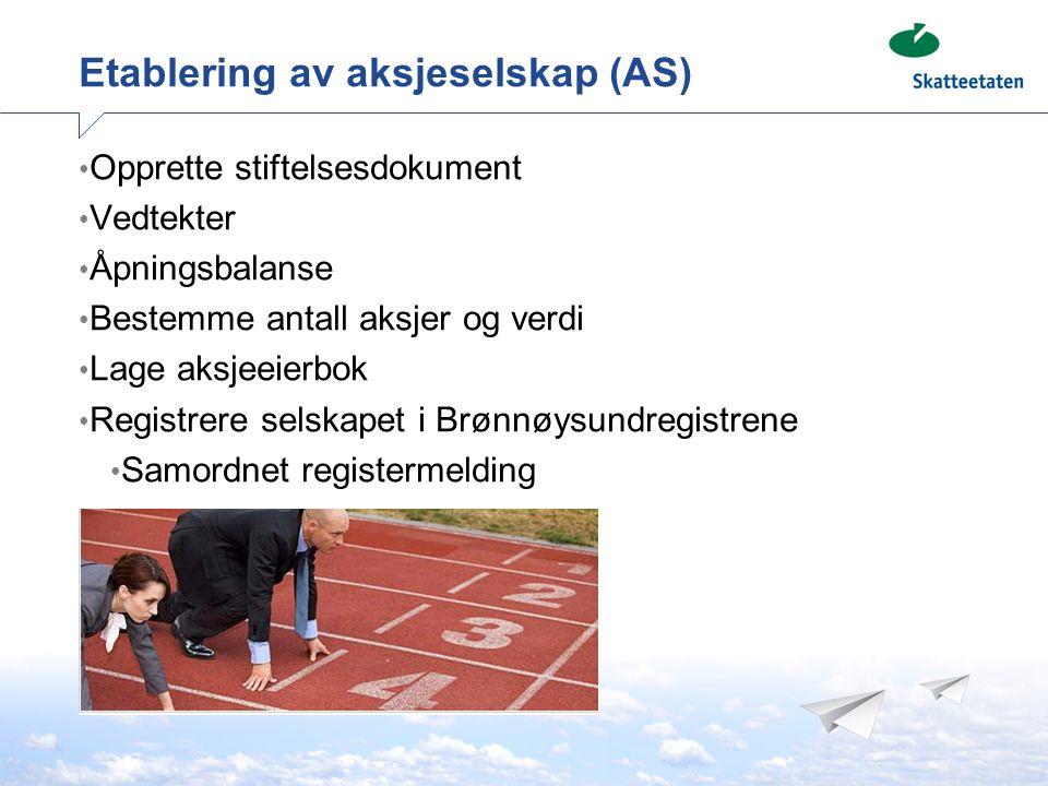 Stiftelsesdokument Krav til innhold: Stifternes navn/foretaksnavn, adresse, fødselsnr./organisasjonsnr.
