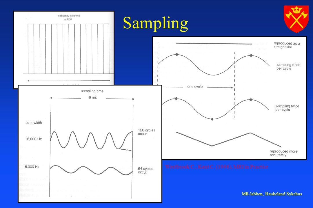 MR-labben, Haukeland Sykehus Sampling Westbrook C., Kaut C. (1998), MRI in Practice