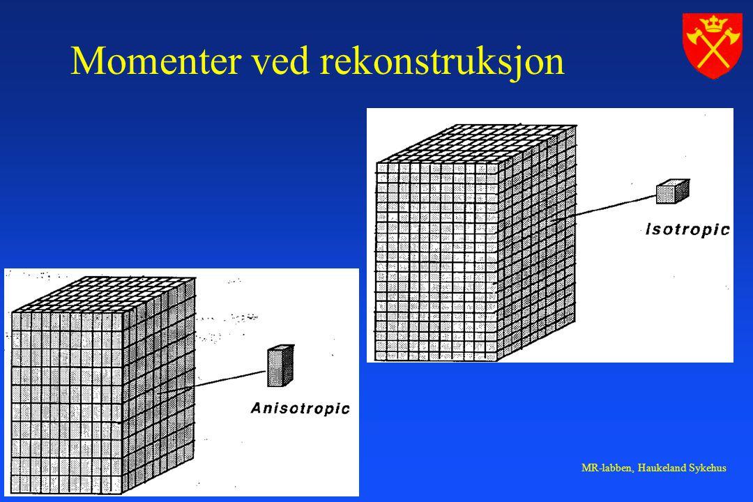 MR-labben, Haukeland Sykehus Momenter ved rekonstruksjon