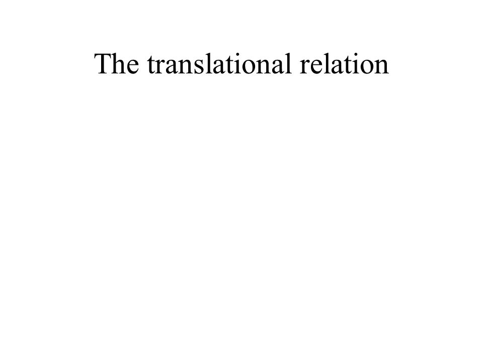 The translational relation