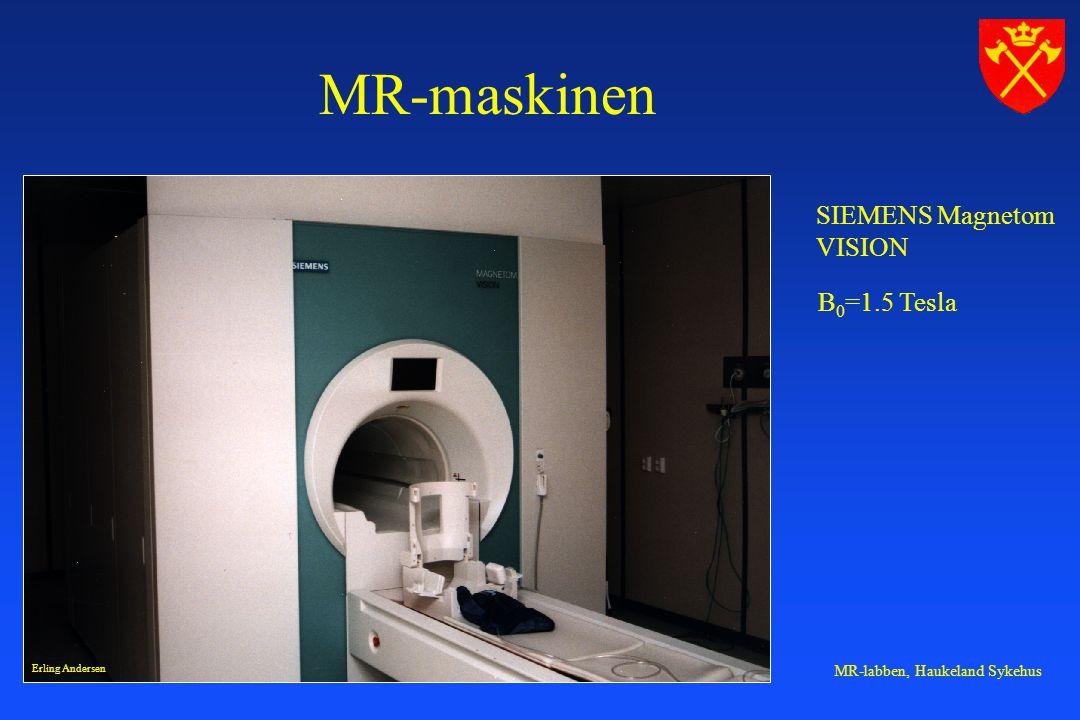 MR-labben, Haukeland Sykehus MR-maskinen SIEMENS Magnetom VISION B 0 =1.5 Tesla Erling Andersen