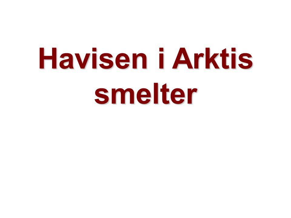 Helge Drange Geofysisk institutt Universitetet i Bergen Havisen i Arktis smelter