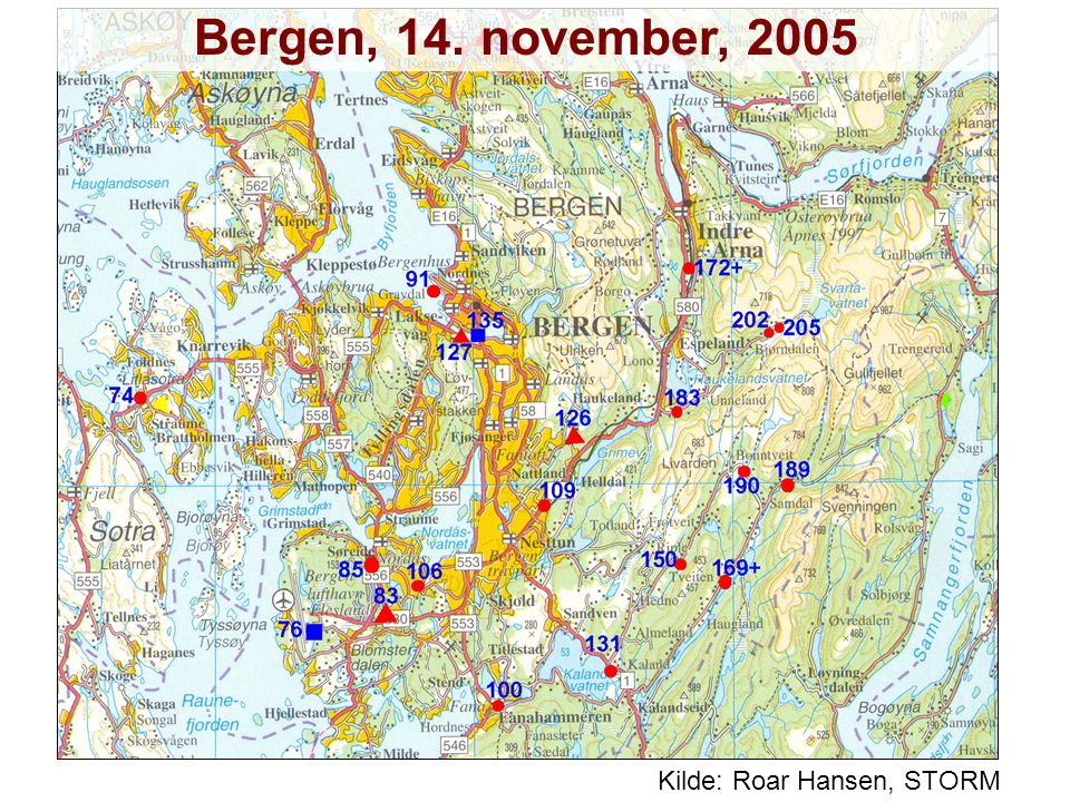 Helge Drange Geophysical Institute University of Bergen Kilde: Roar Hansen, STORM Bergen, 14.
