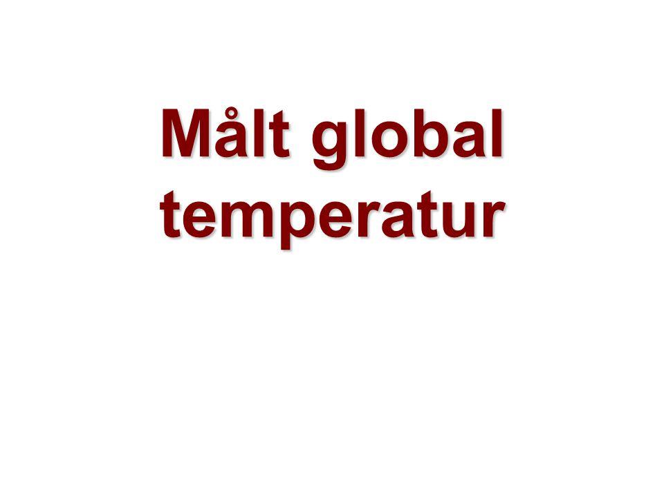 Helge Drange Geofysisk institutt Universitetet i Bergen Målt global temperatur