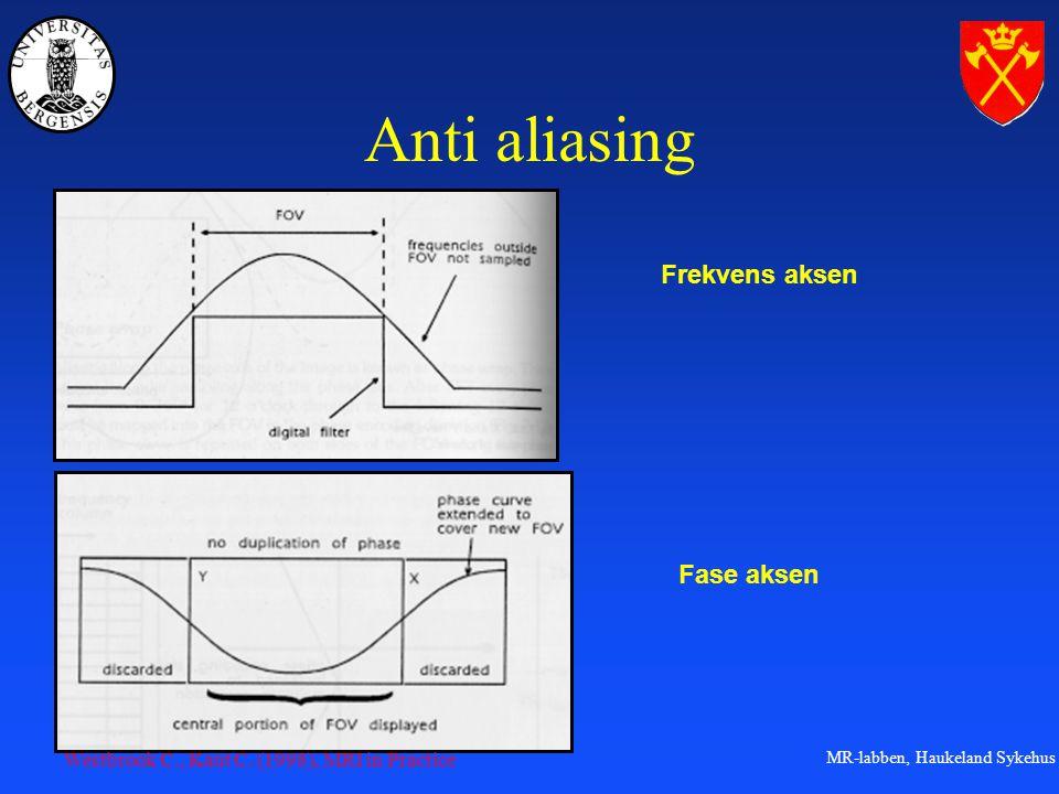 MR-labben, Haukeland Sykehus Anti aliasing Frekvens aksen Fase aksen Westbrook C., Kaut C.