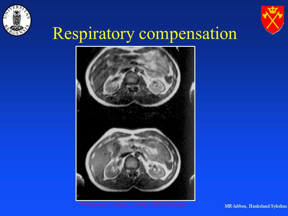 MR-labben, Haukeland Sykehus Respiratory compensation Westbrook C., Kaut C. (1998), MRI in Practice