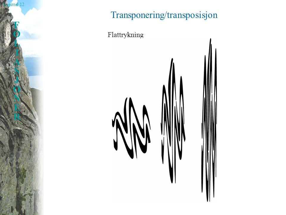 Kapittel 12 FOLIASJONERFOLIASJONER Transponering/transposisjon Flattrykning