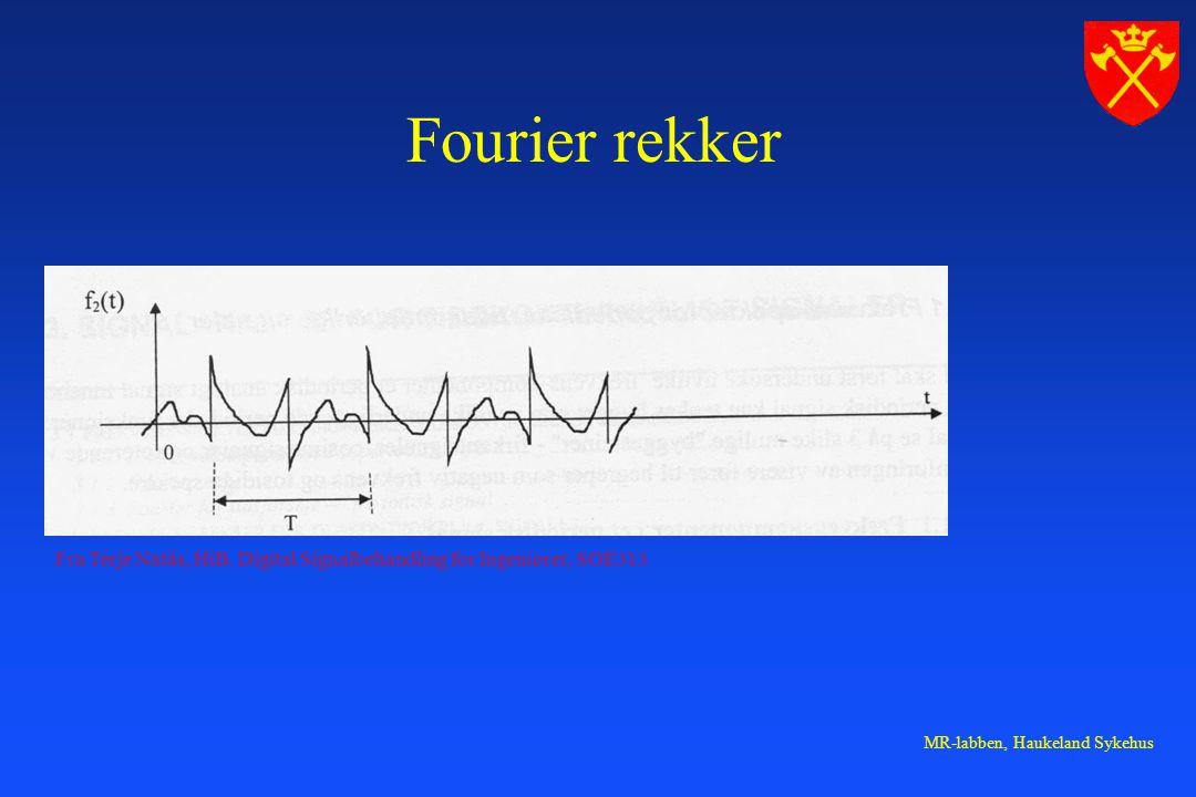 MR-labben, Haukeland Sykehus Fourier rekker Fra Terje Natås, HiB.