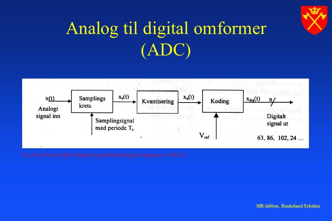 MR-labben, Haukeland Sykehus Analog til digital omformer (ADC) Fra Terje Natås, HiB.