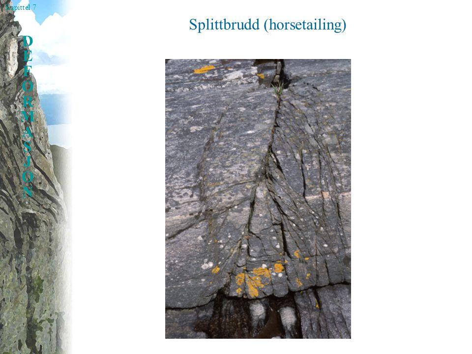 Kapittel 7 DEFORMASJONDEFORMASJON Splittbrudd (horsetailing)