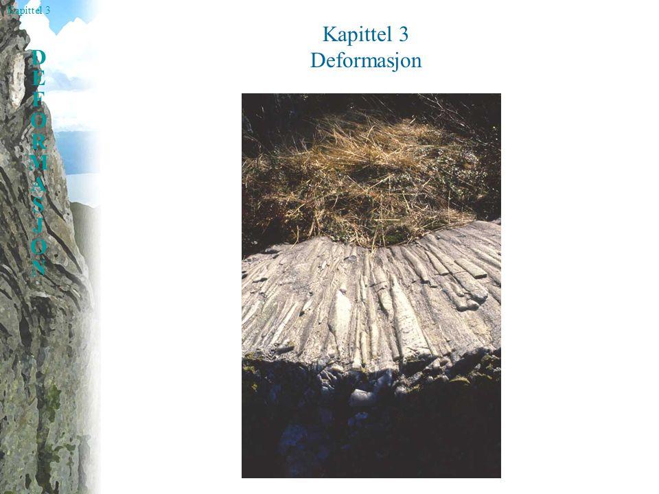 Kapittel 3 DEFORMASJONDEFORMASJON Forkortningsfelt, strekningsfelt Subsimpel skjær Simpel skjær