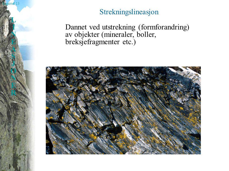 Kapittel 13 LINEASJONERLINEASJONER Skjæringslineasjon Skjæringslinjen mellom to foliasjoner