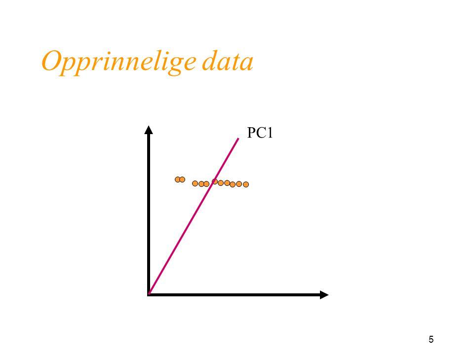 5 Opprinnelige data PC1