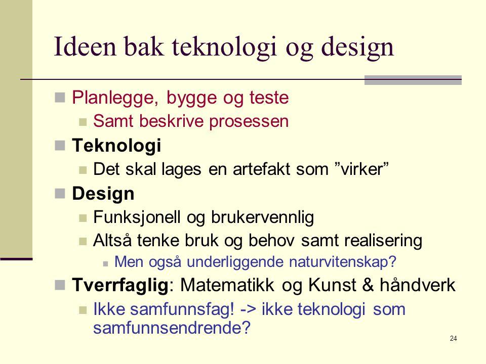 25 T&D versus naturvitenskap Learning by doing.