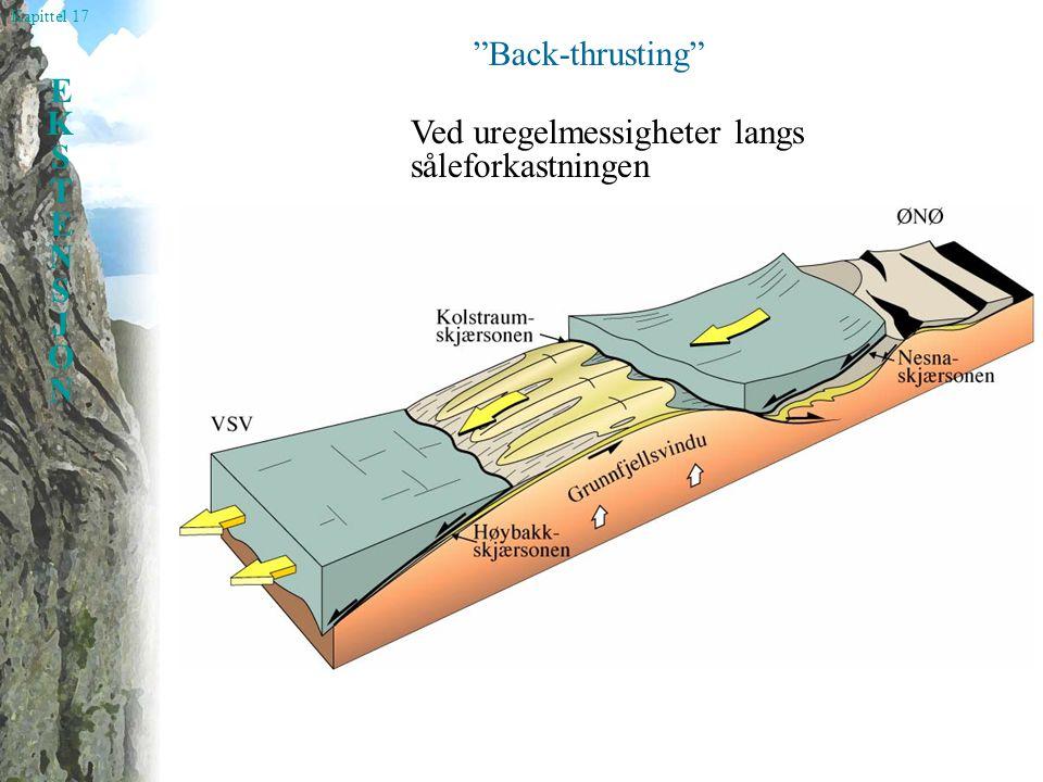 """Kapittel 17 EKSTENSJONEKSTENSJON """"Back-thrusting"""" Ved uregelmessigheter langs såleforkastningen"""