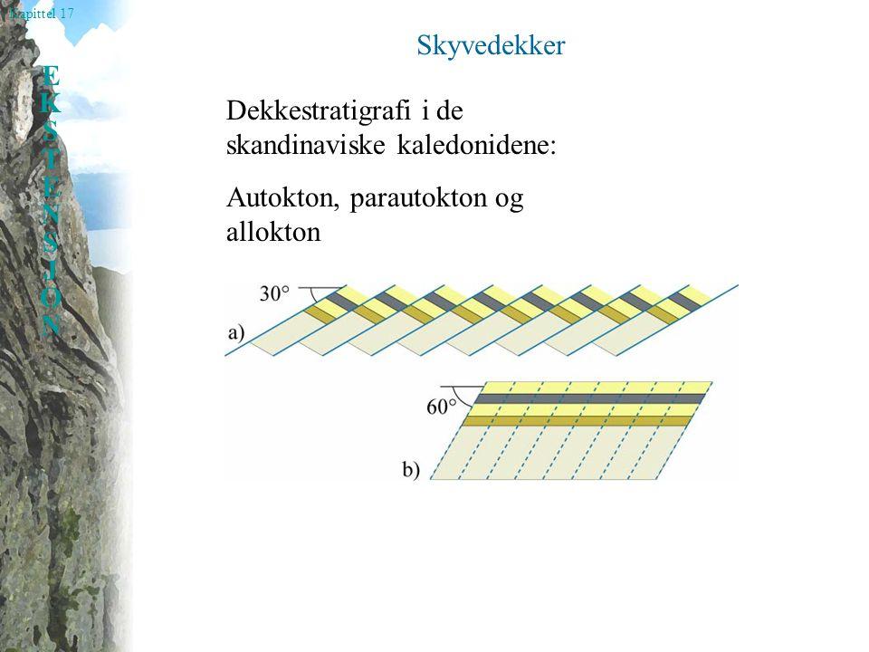 Kapittel 17 EKSTENSJONEKSTENSJON Skyvedekker Dekkestratigrafi i de skandinaviske kaledonidene: Autokton, parautokton og allokton