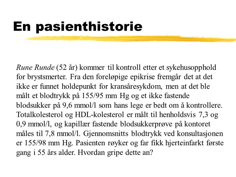 En pasienthistorie Rune Runde (52 år) kommer til kontroll etter et sykehusopphold for brystsmerter.