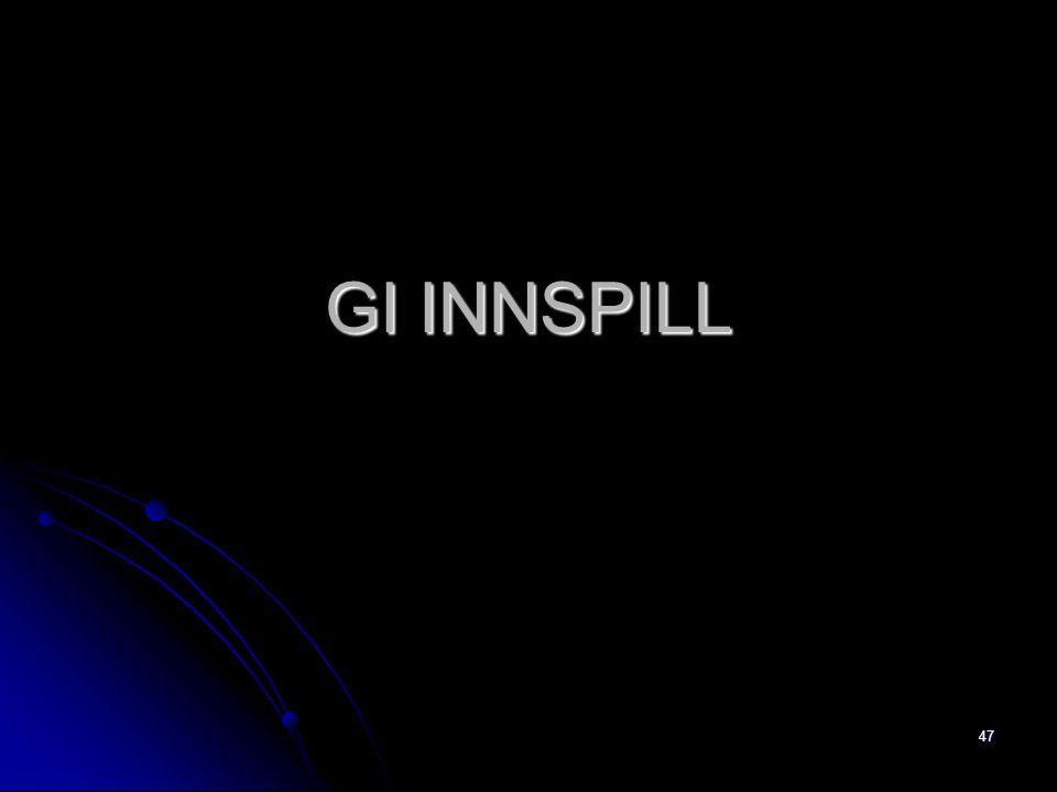 47 GI INNSPILL