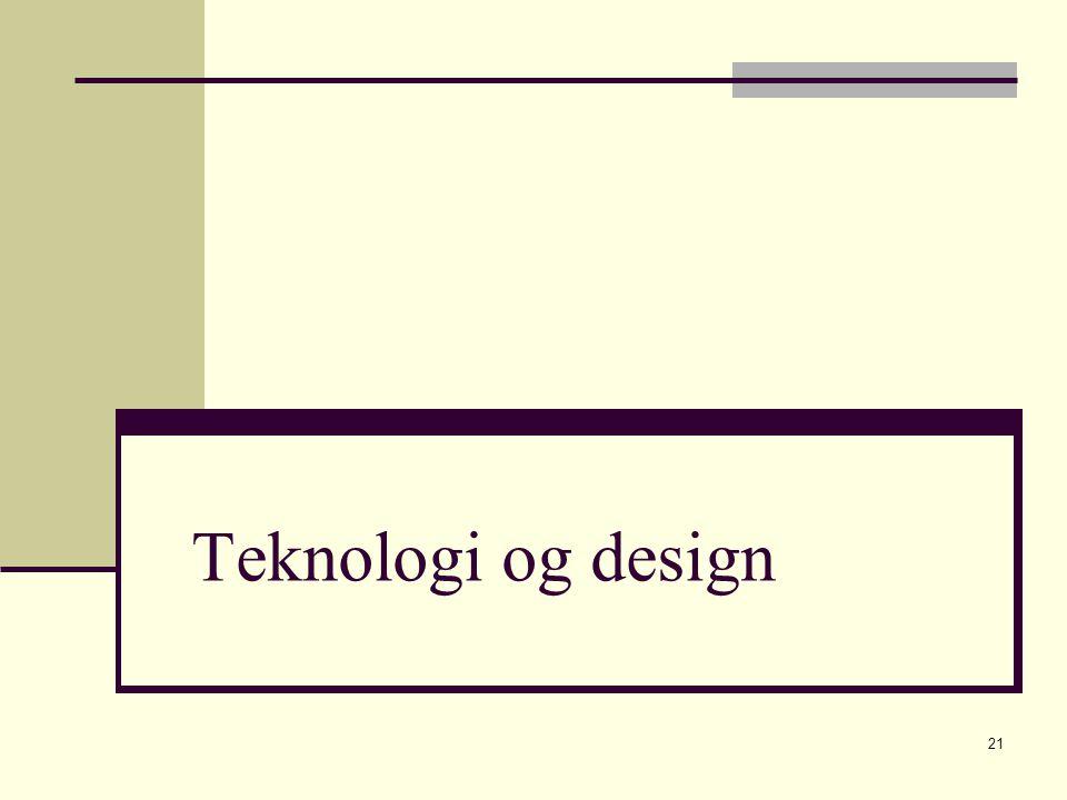 21 Teknologi og design