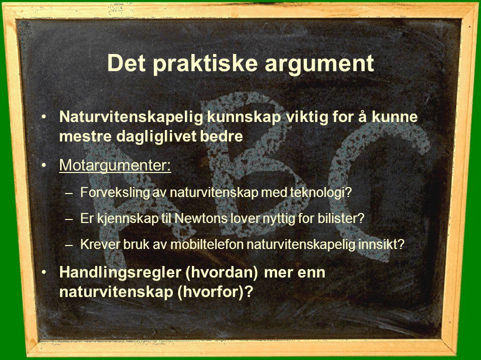Naturvitenskap marginaliseres.